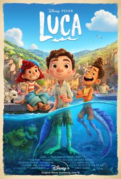 Locandina cinematografica di Luca, film della Pixar in uscita nel 2021